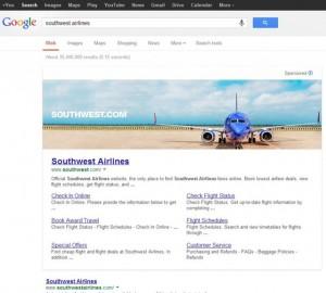 Google тестирует новый вид баннероной рекламы в поисковой выдаче
