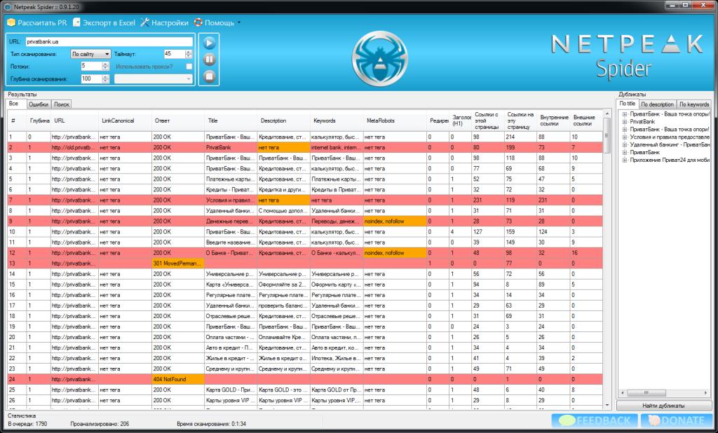SEO инструменты и сервисы, которые нужны каждому оптимизатору - netpeak spider
