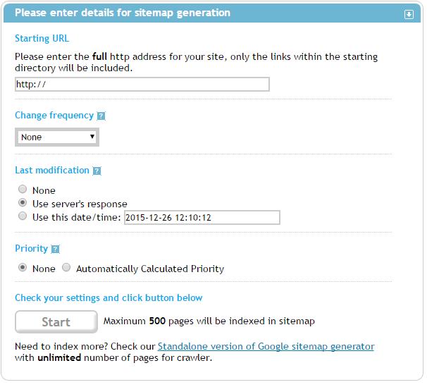 SEO инструменты и сервисы, которые нужны каждому оптимизатору - sitemap generator