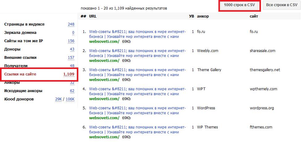 Поиск скрытых ссылок на сайте с помощью Linkpad.ru